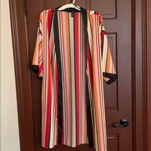 Never worn beautiful silk material cardigan